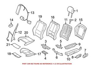 For Bmw Genuine Seat Lumbar Motor Front Left 52107138786