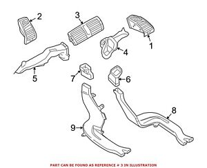 For Bmw Genuine Dashboard Air Vent 64227059189