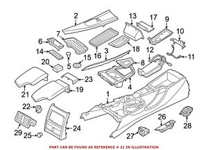 For Bmw Genuine Console Armrest Cover Center 51169235431