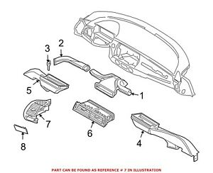 For Bmw Genuine Dashboard Air Vent Right 64226954302