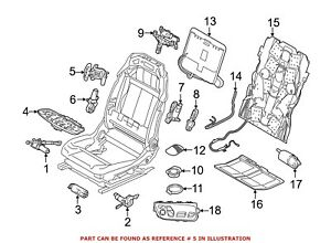 For Bmw Genuine Seat Lumbar Motor Front Left 52107454050