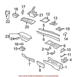 For Bmw Genuine Console Panel Rear Right Lower 51169213518