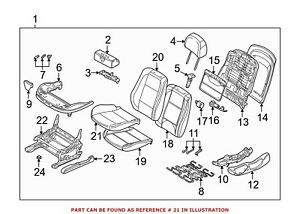 For Bmw Genuine Seat Cover Front Lower 52108234932