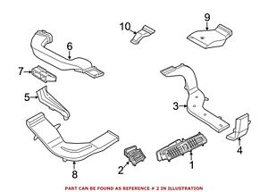 For Bmw Genuine Dashboard Air Vent Left Outer 64229142582