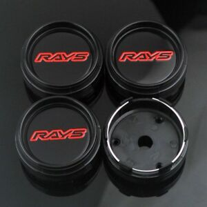 4pc 66mm 61mm Volk Rays Wheel Hub Center Caps Emblem For Te37 Tokyo Time Attack