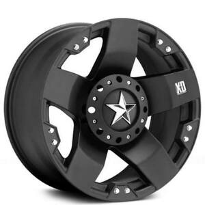 4pcs 18 Xd Wheels Xd775 Rockstar Matte Black Off Road Rims Fs