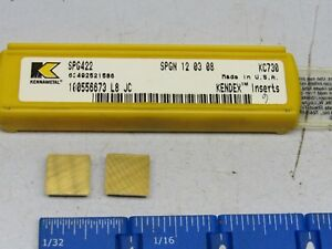 Kennametal Spg 422 Carbide Inserts Grade Kc730 30 Pcs New