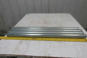 Dematic 1 9 Od X 36 5 8 Bf Gravity Conveyor Roller 7 816 Hex Bore Lot Of 4