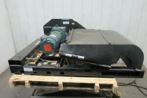 Dematic 208 460v 3hp 62 Rpm Conveyor Drive Bed 12 od X 26 Drive Roller See Info