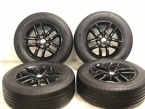 18 Jeep Grand Cherokee Gloss B Factory Rim Wheels Michelin Tires 9156 9164