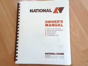 National Crane 400 Series 455 446 437 428 426 Service Owners Parts Manual Oem