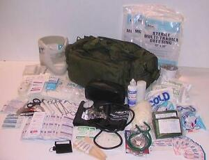 New Fully Stocked M39 Medic Trauma First Aid Kit Bag
