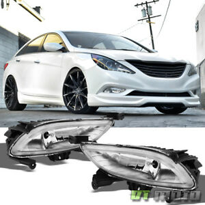 For 2011 2013 Sonata 2 0t Clear Bumper Fog Lights Lamps W Switch Left Right Pair