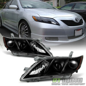 For Black 2007 2008 2009 Toyota Camry Headlights Headlamps Sets Left right 07 09