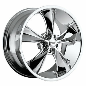 4 New 17x8 Foose Legend Chrome Wheel Rim 5x114 3 5 114 3 17 8
