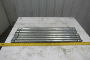 1 1 2 X 36 1 8 bf 2 Groove Gravity Conveyor Roller 10 32 Threaded Bore Lot Of 8