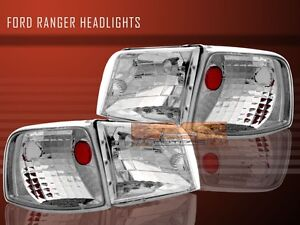 93 94 95 96 97 Ford Ranger Headlights Lamps Corner Crystal Clear