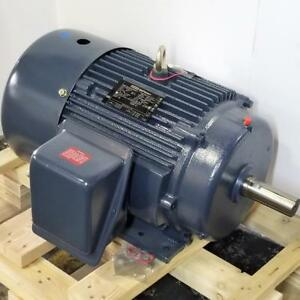 Leeson 15 Hp 3600 Rpm Tefc 230 460 Volts 254t Frame 3 Phase Motor Cobgt1021lee