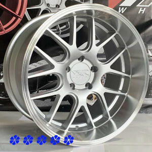 Xxr 530d Wheels 18 X9 10 5 20 Silver Deep Dish Lip Rims Staggered 5x114 3 5x4 5