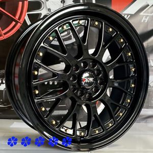Xxr 521 17x7 38 Black Lip Rims Wheels 5x114 3 02 Acura Rsx Type S Cl Tl Ilx Tsx