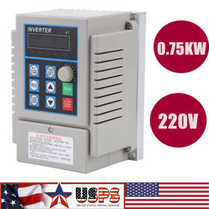 0 75kw 1hp Vfd 5a 220v Single Phase Speed Variable Frequency Drive Inverter