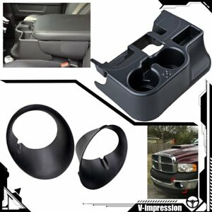 Cup Holder Add On Fog Light Bezels Kit For 2003 2009 Dodge Ram 1500 2500 3500