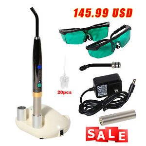 Dental Diode Laser System Wireless Laser Pen Soft Tissue Perio Endo Pad Light F3