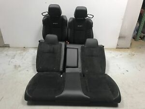 2018 Dodge Challenger Srt Seats Front Rear Left Right Black Leather W Suede Oem