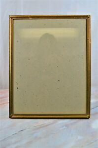 Large Table Metal Vintage Gold Ornate Picture Frame With Glass 14 X 11 Decor