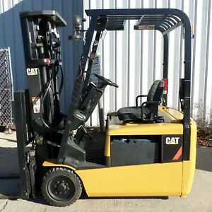 Caterpillar Model Ep16kt 2004 3000lbs Capacity Great 3 Wheel Electric Forklift