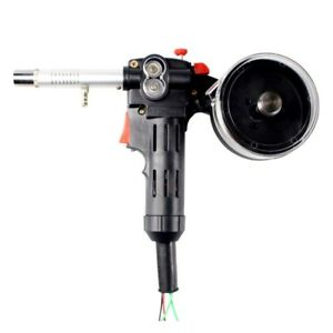 1pc Metal Gear Mig Spool Gun Aluminum Welder Torch 24v Dc Standard Spool Black