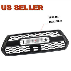 Front Bumper Grill Grille For 2016 2017 2018 2019 Toyota Tacoma Trd Pro Style