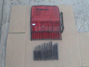 Snap on Usa 15 Pieces Punch And Chisel With Gauge Roll Pouch