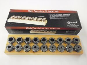 Techniks Er32 Precison English Collet Set 18 Piece 3 16 3 4 Syic 04212is