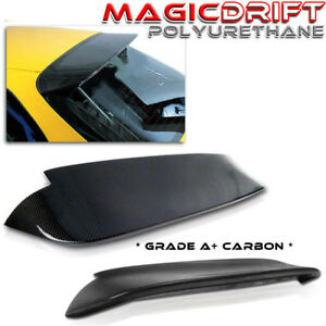 For Honda Civic Eg 3dr Spoon Style Duckbill Rear Roof Spoiler Real Carbon Fiber