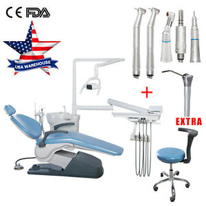 Dental Unit Exam Chair Computer Control high Low Handpiece Kit 3 water Syringe