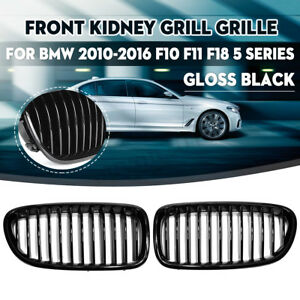 For Bmw F18 F10 F11 528i 535i 5 Series 2010 2016 Front Kidney Grille Gloss Black