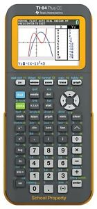 Texas Instruments Ti 84 Plus Ce Graphing Calculator W Color Screen Yellow