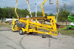 Haulotte 5533a 61 Work Height Towable Boom Lift 33 Outreach in Stock In Fl