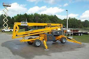 Haulotte 55xa 61 Boom Lift 4 Wheel Drive kubota Diesel free Shipping To All 48