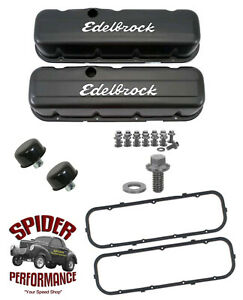 Chevy Ck Pickup 396 402 427 454 Low Profile Black Valve Cover Kit