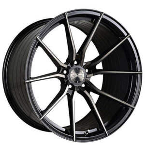 19 Staggered Vertini Wheels Rf1 2 Black Tint Face Rims Fs