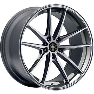 Konig Oversteer 19x9 5 5x114 3 5x4 5 25mm Gray Wheels Rims Os99514259