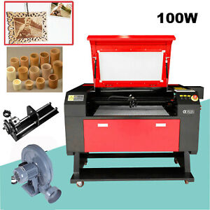 100w Usb Co2 Laser Cutter Engraving Machine 700x500mm Water Cooler Rotary Axis