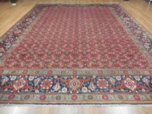 C1930 Vg Dy Antique Fish Tabrizz Mouud Herati Bijar Bijdar 10x13 Estate Sale Rug