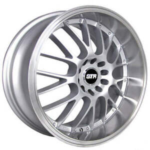 4pcs 18 Str Wheels 514 Silver With Machined Lip Rims Fs