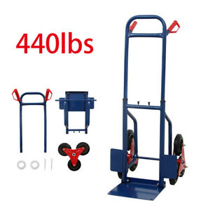 440lb Stair Climbing Moving Dolly Hand Truck Warehouse Appliance Cart Blue