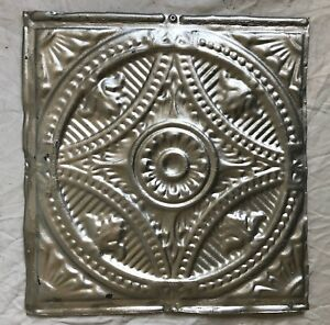 1890 S 12 X 12 Antique Tin Ceiling Tile Silver Metal Reclaimed 39 19