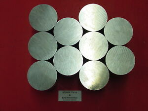 10 Pieces 2 Aluminum 6061 Solid Round Rod 0 65 Long Cut New Lathe Bar Stock