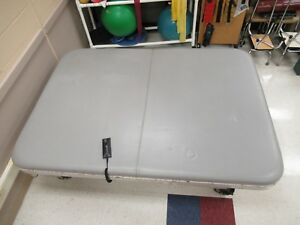 Tri W g Tg1857s Motorized Hi lo Mat Table 8 X 7 Physical Therapy Bed Grey